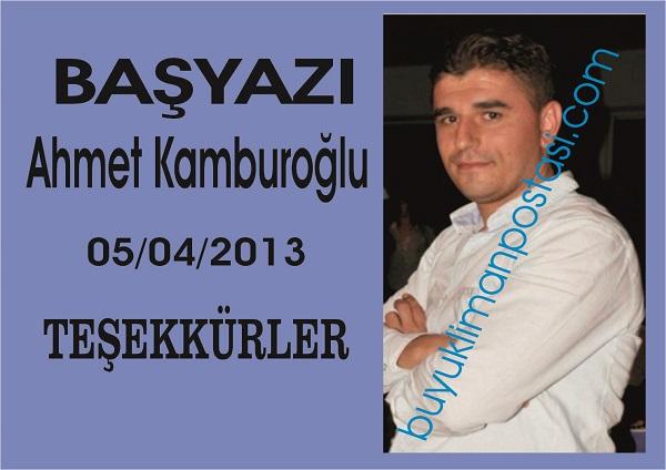 Başyazı-Ahmet Kamburoğlu-TEŞEKKÜRLER…