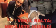 VEKİL BALTA, MECLİSTE ISIRILDI