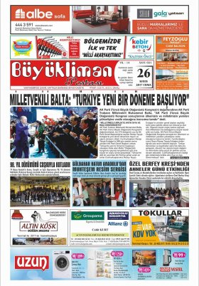 VAKFIKEBİR-Büyükliman Postası Gazetesi - 26.05.2017 Manşeti