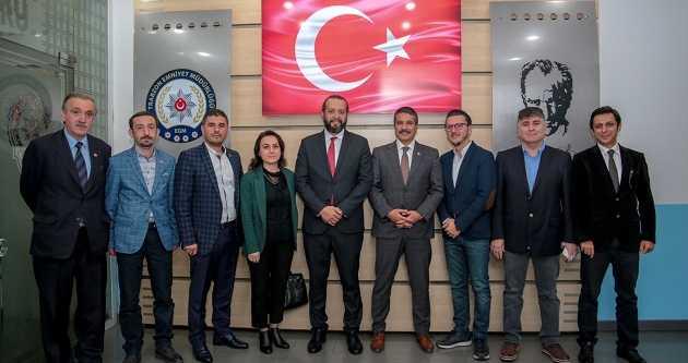 TGC'DEN YENİ EMNİYET MÜDÜRÜ METİN ALPER'E ZİYARET