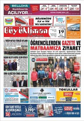 VAKFIKEBİR BÜYÜKLİMAN POSTASI GAZETESİ - 19.04.2019 Manşeti